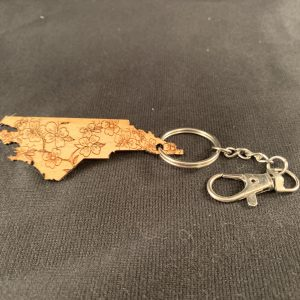 North Carolina State Outline Key Ring