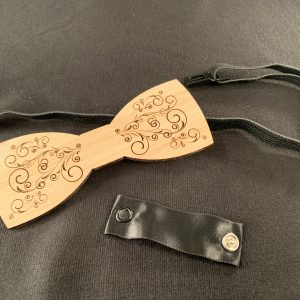 Whimsical Filigree Wooden Bowtie