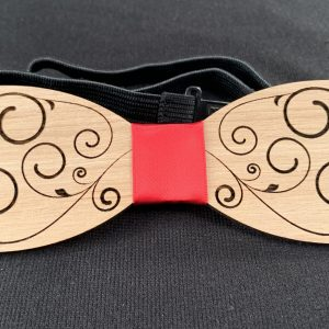 Simple Filigree Wooden Bowtie