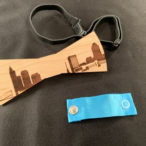 Raleigh Skyline Wooden Bowtie