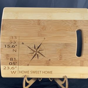 Home Sweet Home Cutting Board with Coordinates