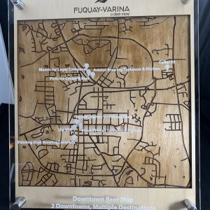 Three Layer Engraved Map with Points of Reference