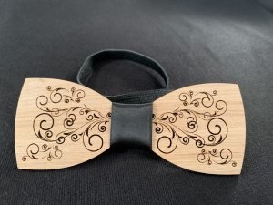 Wooden Custom Engraved Bowties