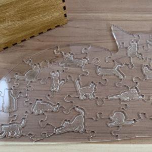 Cat Shaped Acrylic Puzzle