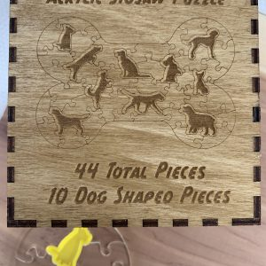 Dog Bone Shaped Acrylic Puzzle