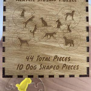Dog Bone Shaped Acrylic Puzzle